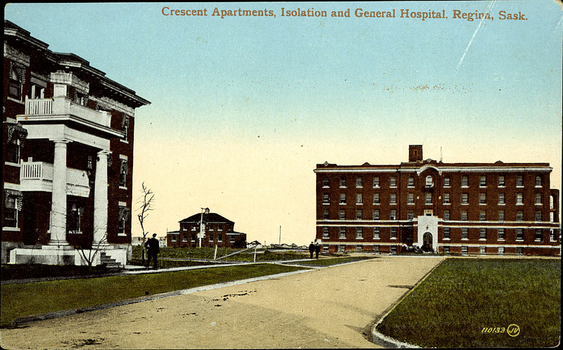 Postcard 2649 Valentine Amp Son S Publishing Co Ltd Crescent Apartments Isolation And