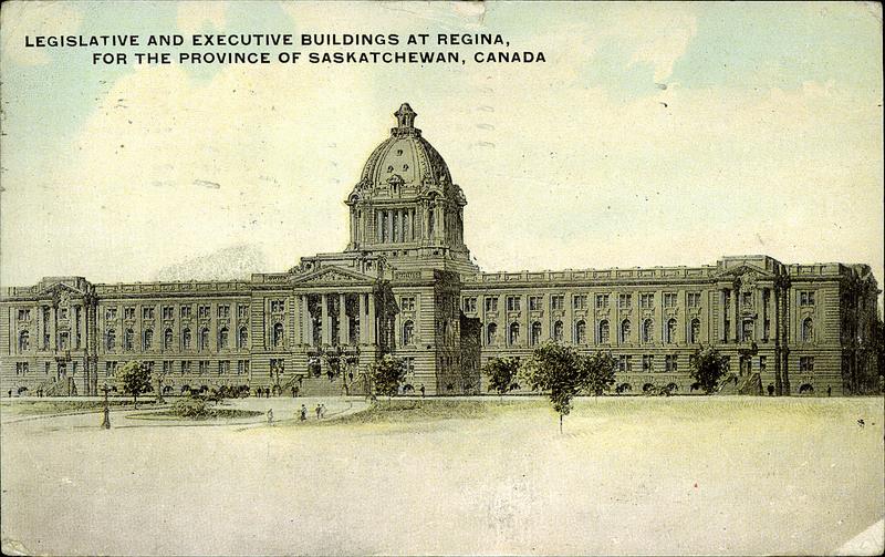 Nordamerika Kanada Post Card Legislative Building Regina Sask. Canada