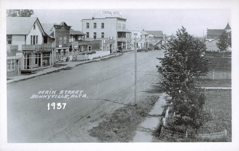 Bonnyville (AB) Canada  city photo : postcard 3102 main street bonnyville alta bonnyville c1937