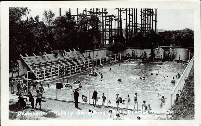 Postcard 3525 vogue studio drumheller rotary swimming - University of alberta swimming pool ...