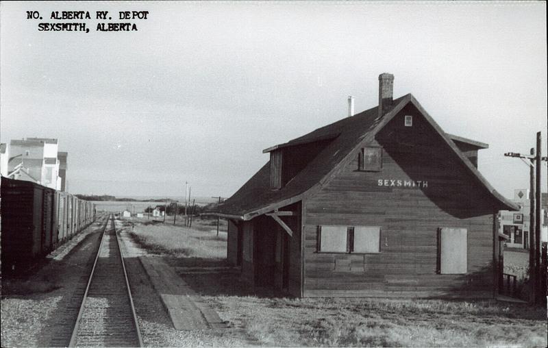 Postcard 4782 Conner H D No Alberta Ry Depot Sexsmith