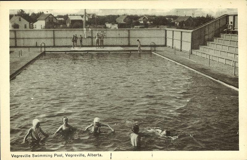 Postcard 4893 photogelatine engraving co vegreville - University of alberta swimming pool ...