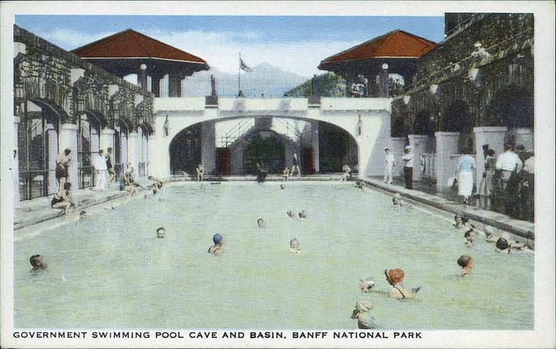 Postcard 7218 harmon byron government swimming pool cave - University of alberta swimming pool ...