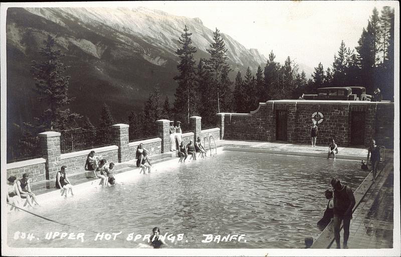 Postcard 7220 harmon byron upper hot springs banff - University of alberta swimming pool ...