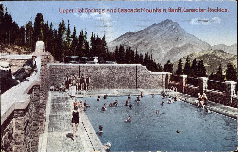 Postcard 7229 coast publishing company upper hot springs - University of alberta swimming pool ...