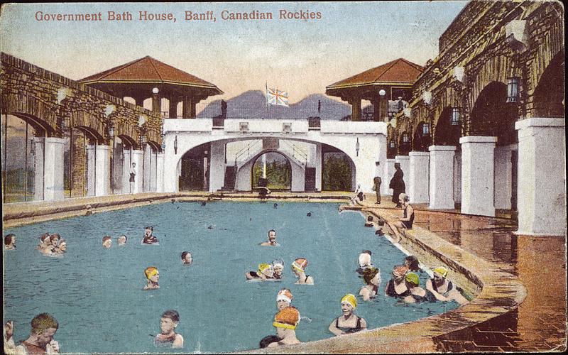 Postcard 7240 coast publishing company government bath - University of alberta swimming pool ...
