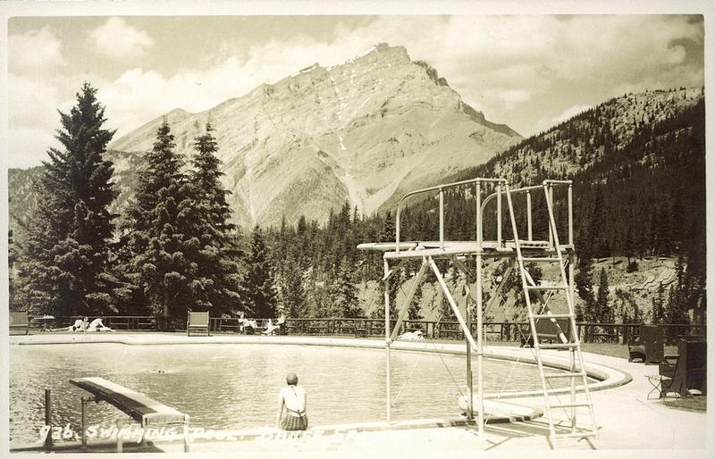 Postcard 7356 harmon byron swimming pool banff springs - University of alberta swimming pool ...