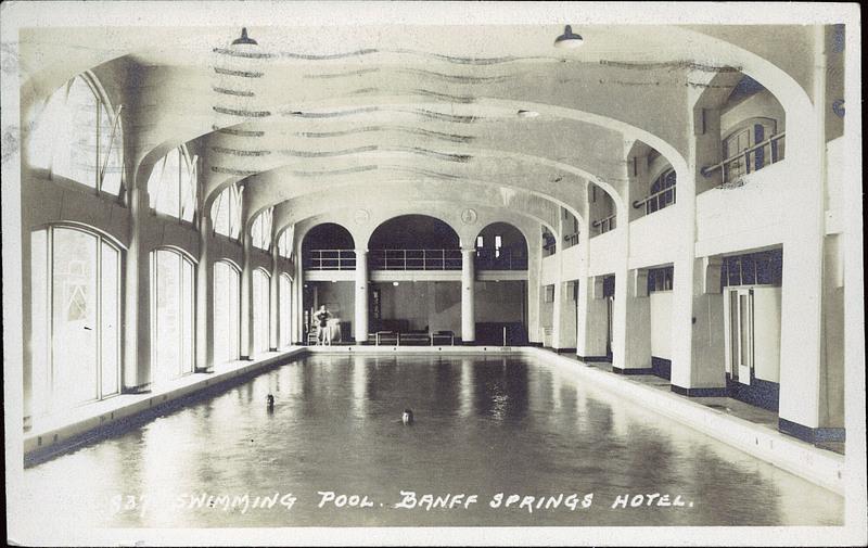 Postcard 7358 harmon byron swimming pool banff springs - University of alberta swimming pool ...
