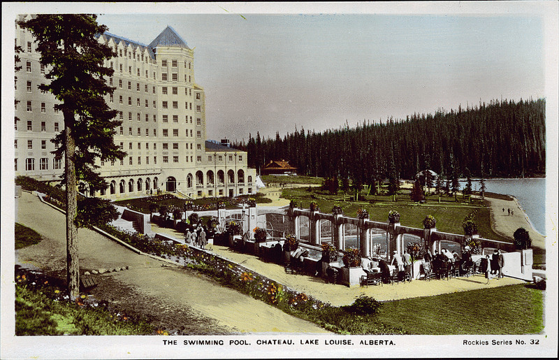 Postcard 8482 Camera Products Co The Swimming Pool Chateau Lake Louise Alberta Cca 1930