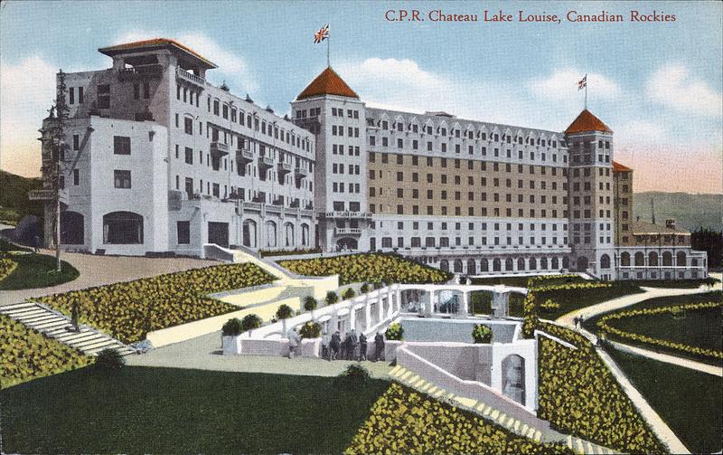 Postcard 8655 Coast Publishing Co C P R Chateau Lake Louise Canadian Rockies 1930 39 S