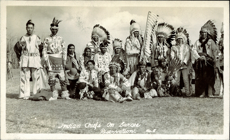 Postcard 9745: Calgary Photo Supply Co, Indian Chiefs on ...