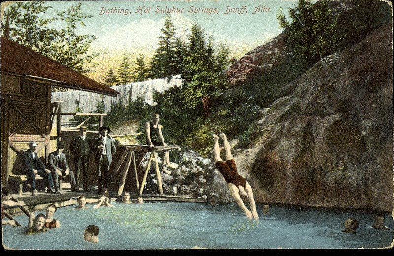 Postcard 10003 stedman bros bathing hot sulphur springs - University of alberta swimming pool ...