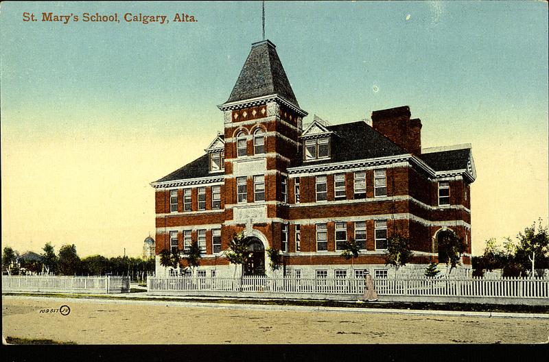 Description exterior view of st mary s school calgary alberta