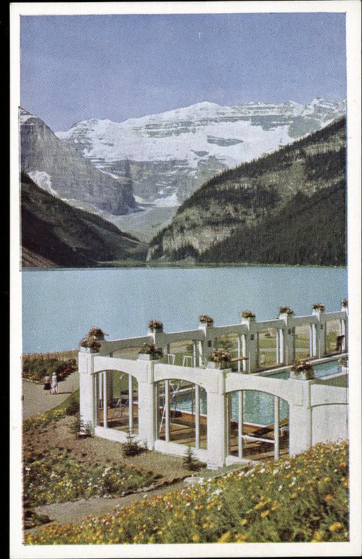 Postcard 10618 Taylor G Morris Swimming Pool Chateau Lake Louise 1940 39 S