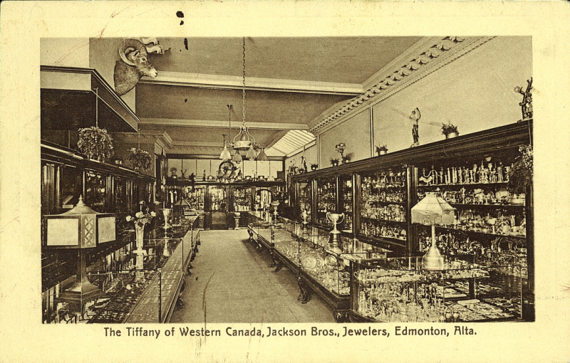 Postcard 12166 The Tiffany Of Western Canada Jackson Bros Jewlers Edmonton Alta 1920 1940