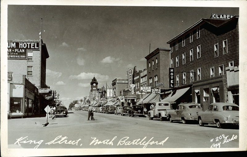 postcard 12763  roxy studio  king street  north battleford