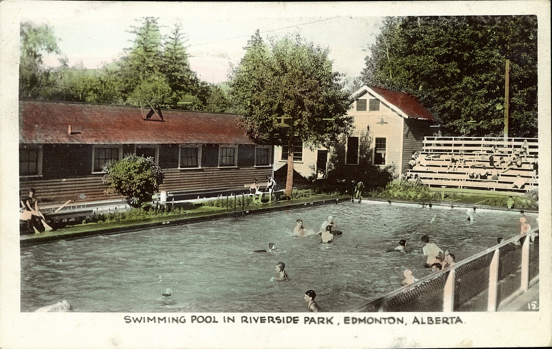 Postcard 13926 Gowen Sutton Co Ltd Swimming Pool In Riverside Park Edmonton Alberta 1940