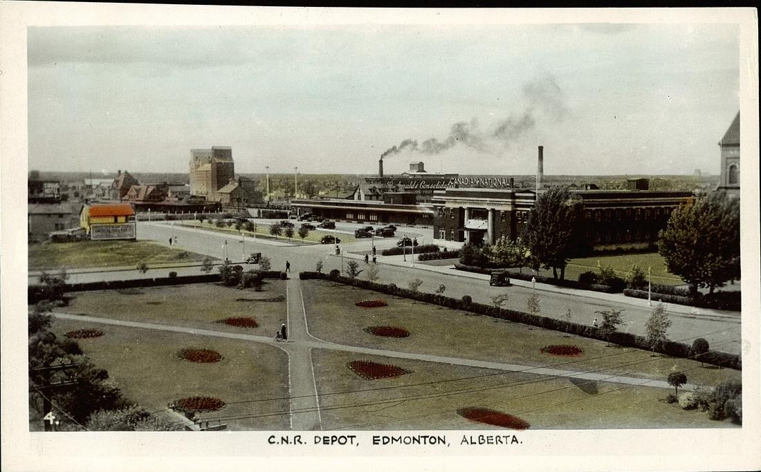 Postcard 14019 Gowen Sutton Co Ltd C N R Depot