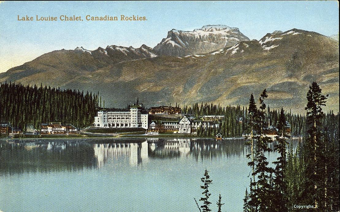 Postcard 14419 Coast Publishing Co Lake Louise Chalet