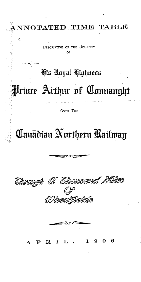 Peel 2930 canadian northern railway annotated time table for Html table title